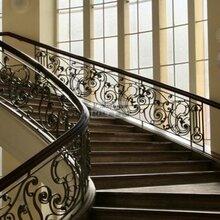 铁艺楼梯扶手铁艺楼梯围栏北京通州安装旋转楼梯欧式围栏图片