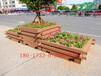 供应珠海防腐木花箱碳化木价格表,广东防腐木地板规格施工图