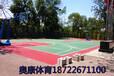 天津津南區彈性丙烯酸籃球場鋪設翻新///紅綠搭配最贊
