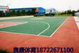 天津紅橋區彈性丙烯酸籃球場劃線翻新紅綠搭配最帥氣