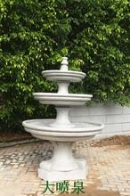 厂家供应仿石雕喷泉水景庭院小区摆件户外花盆水池流水雕刻摆件