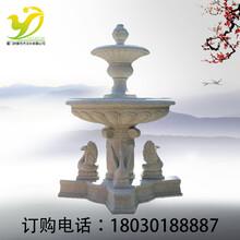 研景仿石雕天鹅大型流水喷泉雕塑公园小区户外摆件