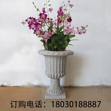 研景室外圆形花盆高档婚庆路引花盆欧式水泥花盆