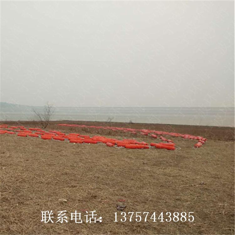 清江流域水库拦污浮漂定制塑料拦污排入水口拉渣浮体
