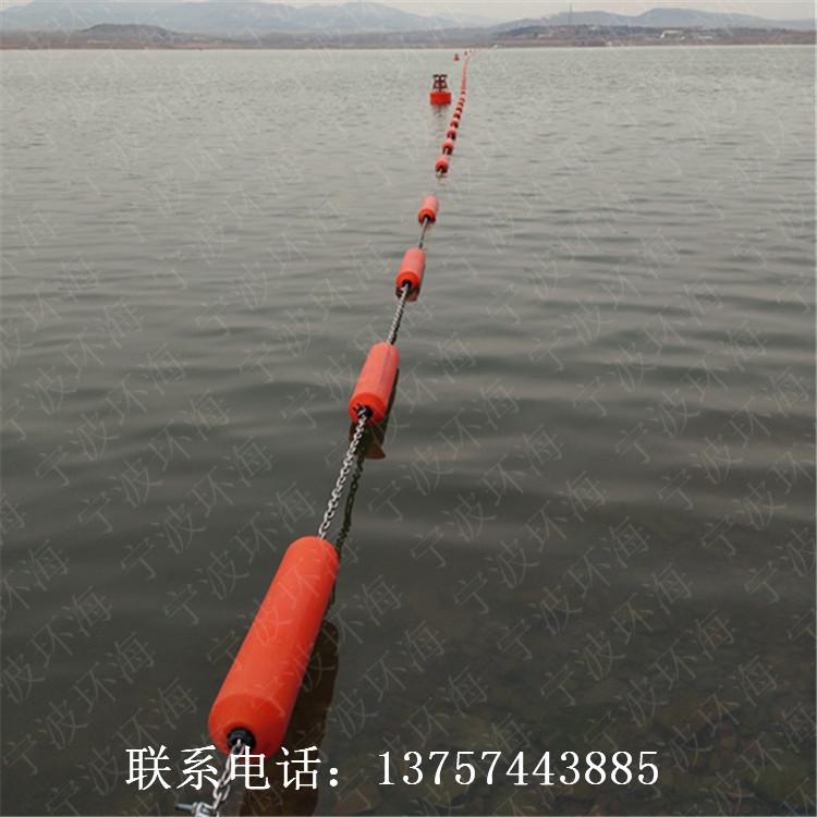 河道清淤施工方案水面定制拦污排圆柱塑料浮筒价格
