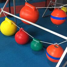 水上圍欄滾塑水庫區警示用浮球直徑30公分實心泡沫填充浮子