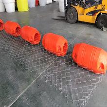 水面水庫河道攔渣攔截樹枝生活垃圾塑料浮筒攔污柵