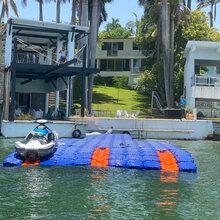 鄱陽湖網箱養殖浮箱景區水上摩托艇浮箱養殖休閑垂釣水上浮臺