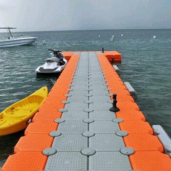 水面碼頭浮箱浮板水上平臺游艇碼頭水上摩托艇泊位