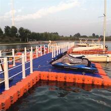 方形塑料浮筒批發水上賽道起點平臺浮體供應