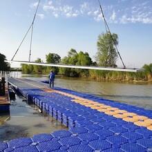網箱養殖水上釣魚平臺浮筒水上魚池塑料浮橋棧道浮筒碼頭
