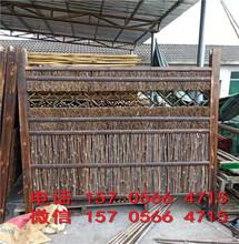 长兴县防腐竹篱笆园艺拉网竹栅栏多少钱一米图片