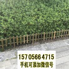 青原区竹篱笆绿化护栏防腐木护栏竹子护栏专业生产图片