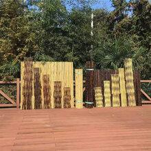广州萝岗竹栅栏竹护栏草坪护栏竹篱笆厂家(中闻资讯)图片
