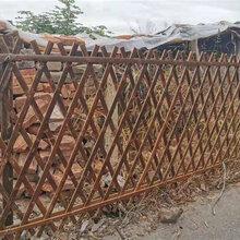 杭州富阳区竹篱笆碳化竹护栏防腐木栅栏pvc护栏免费定做图片