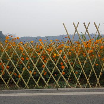 宜春丰城竹篱笆碳化竹护栏菜园子围栏pvc护栏竹园艺