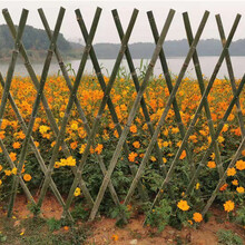 永新竹篱笆围栏木栏栅竹篱笆园艺竹篱笆定制塑钢护栏价格低图片