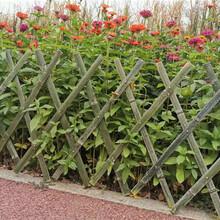 梅州五华竹篱笆碳化木护栏木栅栏pvc护栏百度图片图片
