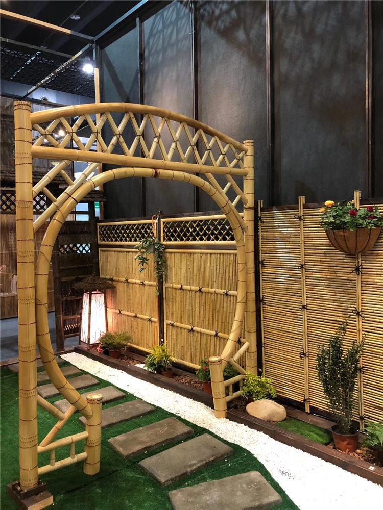 荔城区竹篱笆花园篱笆竹片栅栏竹护栏塑钢护栏百度一下