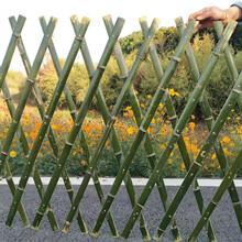 梅州大埔竹篱笆碳化木护栏草坪护栏pvc护栏色泽高雅图片