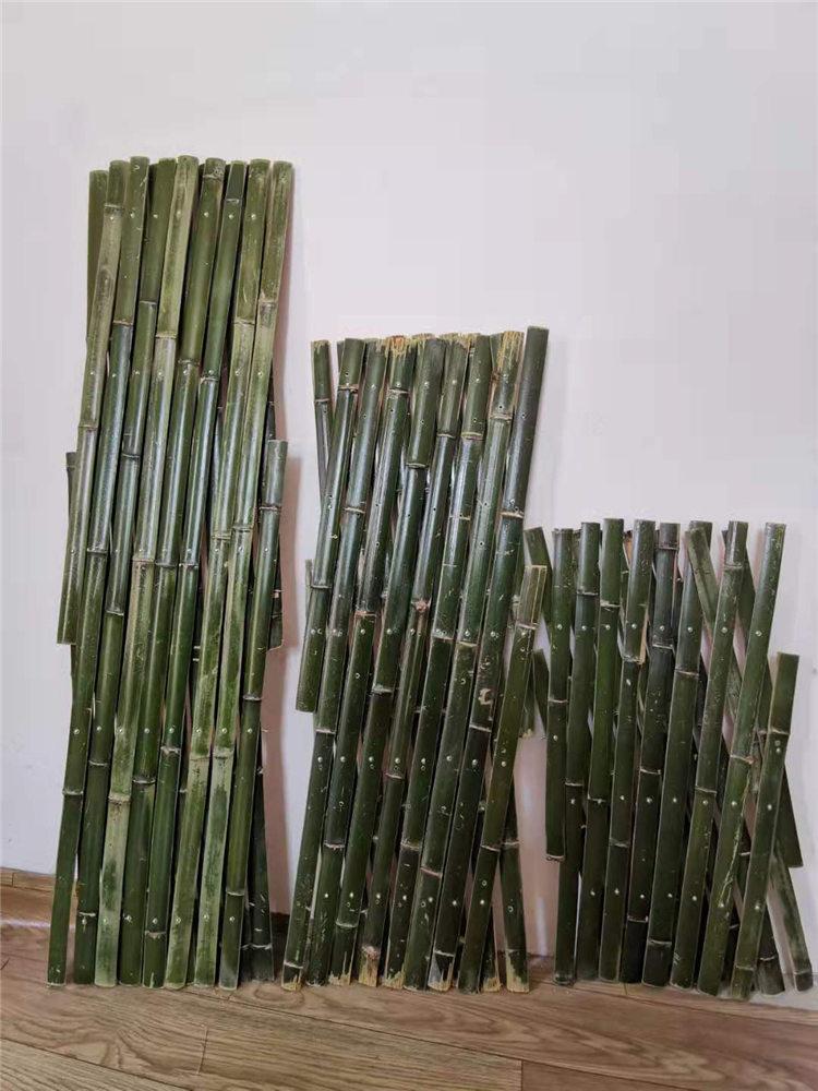 泰兴竹篱笆伸缩篱笆防腐竹栅栏塑钢护栏现货销售