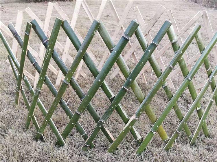 紫金竹篱笆插地围栏防腐木栅栏篱笆塑钢护栏现货销售
