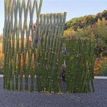 宜昌远安竹篱笆篱笆栅栏竹子护栏pvc护栏工程设计图片