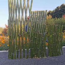 江门鹤山竹篱笆防腐竹围栏菜园护栏pvc护栏竹园艺图片