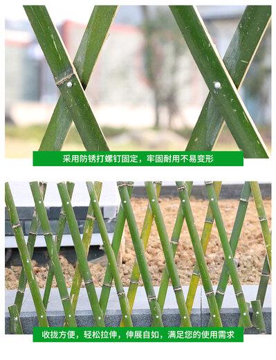 泉州洛江區竹籬笆竹籬笆圍場pvc柵欄仿竹護欄竹籬笆