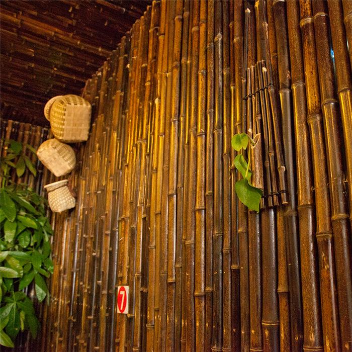 淄博高青 竹籬笆竹節圍欄博山區防腐木護欄仿竹護欄竹節圍欄