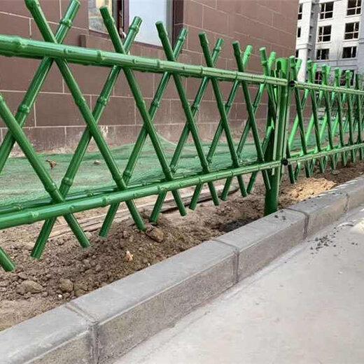 鶴壁淇濱區竹籬笆仿竹圍欄石林草坪護欄竹子護欄仿竹圍欄