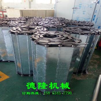 大節距鍍鋅鏈板輸送帶傳送帶100mm節距鏈板輸送線配套鏈輪