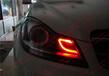 東營汽車大燈升級改裝奔馳C180改裝小紅C車前燈