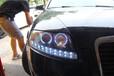 東營汽車燈光改裝升級奧迪A6L升級大燈總成
