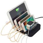 普天源多口手机充电支架底5口USB充电底座座桌面式手机充电支架图片