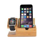 木制品苹果wath手表充电支架苹果手机竹木质充电底座竹木质手机支架苹果手表充电支架图片