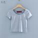 夏季新款女装韩版纯色女士T恤地摊货源低价批发几元小衫大批发