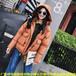 山东青岛便宜地摊冬季棉服外贸毛领中老年女装羽绒服加绒厚款妈妈装棉袄