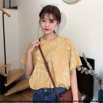 卖衣服都在哪进货黑龙江大庆工厂直销纯棉T恤杂款时尚女装短袖圆领爆款尾货货源批发