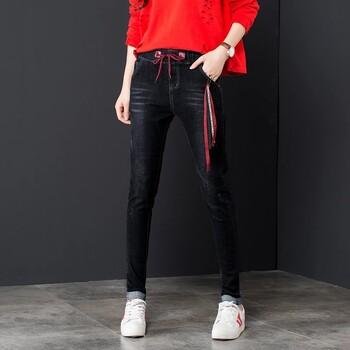 韩版秋冬季牛仔裤