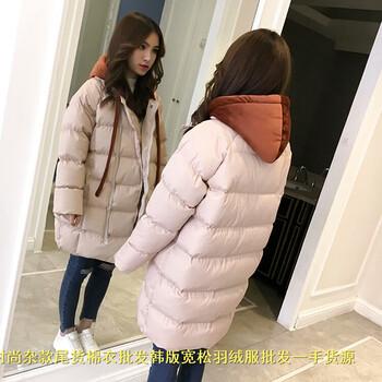 冬季中年外套棉服批发贵州遵义过膝毛领面包服厂家直批羽绒服实体店外贸库存尾货棉衣