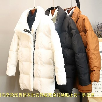 找冬装棉服批发山东济南韩版短款女式棉衣批发厂家直销抗寒保暖面包服夜市甩货大码棉衣