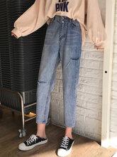 女士百搭牛仔裤河北保定韩版铅笔牛仔裤哪里有厂家几元低价牛仔裤大码刺绣牛仔裤图片