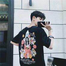 北京东城外贸大码男装短袖夏季宽松全棉短袖休闲男式尾货t恤哪里有品牌短袖男T恤杂款