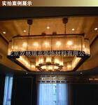 中元之光定制包房豪华吊灯金属拉丝工程灯八角玻璃棒非标吊灯销售图片