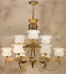 中元之光新款精美铜灯精致豪华多层仿云石吊灯客厅餐厅卧室灯饰销售图片