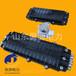架空埋地接續盒臥式光纜阻燃防水接頭盒24芯4孔耐腐蝕