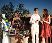 升级版送餐机器人图片
