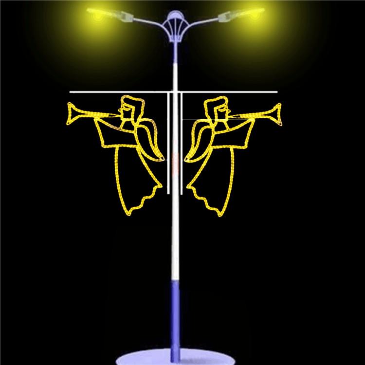 大港国庆街道亮化路灯灯笼装饰,路边灯杆装饰
