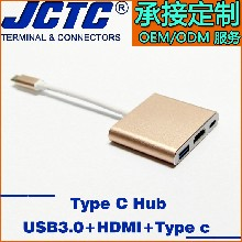Typec转HDMI+USB+typec充电转换器三合一河南郑州批发图片